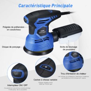 Ponceuse rotative Holife 360°